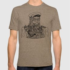 Gross Beard Mens Fitted Tee Tri-Coffee SMALL