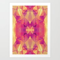 RETRO PINK GEOMETRY Art Print