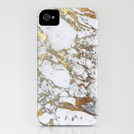 Gold Marble iPhone (4, 4s) Slim Case