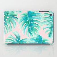 Paradise Palms Blush iPad Case