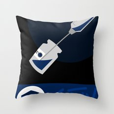 Pandemic - Blue  Throw Pillow