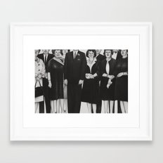 the mortician's wive's club Framed Art Print