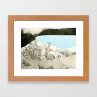 Landscape with a view Framed Art Print
