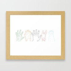 Hands are all the same Framed Art Print