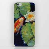 Koi and White Lily iPhone & iPod Skin