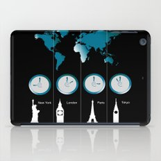 TIME ZONES. NEW YORK, LONDON, PARIS, TOKYO iPad Case