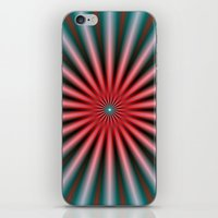 Rays in Turquoise and Pink iPhone & iPod Skin
