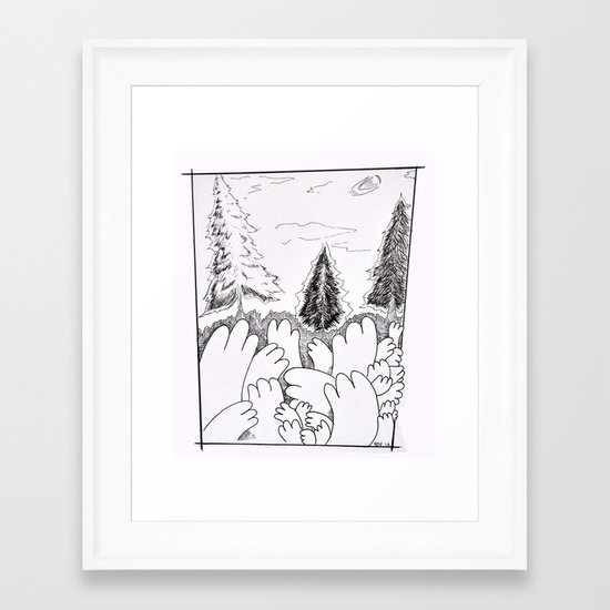 Hands in the Wild Framed Art Print