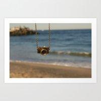 Camera Over The Ocean Art Print