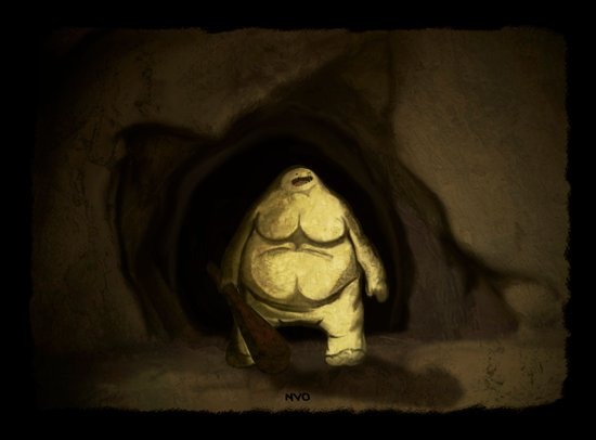 Cave Troll Canvas Print