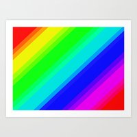Brightly Coloured Stripe… Art Print