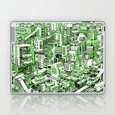 City Machine - Green Laptop & iPad Skin