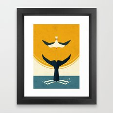 Too Big A Fish Framed Art Print