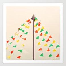 Happy Flags II Art Print