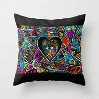 What the heart sees the hands hold  Throw Pillow