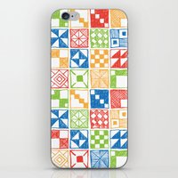 Abstract Squares Primary iPhone & iPod Skin
