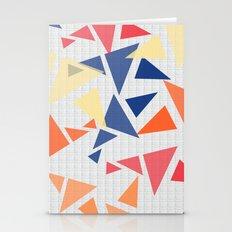 Colorful geometric pattern V Stationery Cards