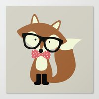Glasses And Bow Tie Hips… Canvas Print