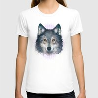 wolf T-shirts featuring Wolf by Laura Graves