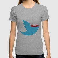 Headless tweet Womens Fitted Tee Athletic Grey SMALL