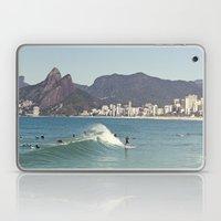 Surfing on Ipanema Beach Laptop & iPad Skin