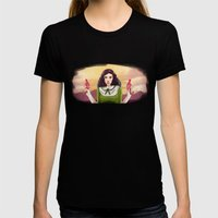 The Good, The Bad, & The Squirter Womens Fitted Tee Black SMALL
