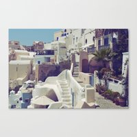 Streets Of Santorini III Canvas Print