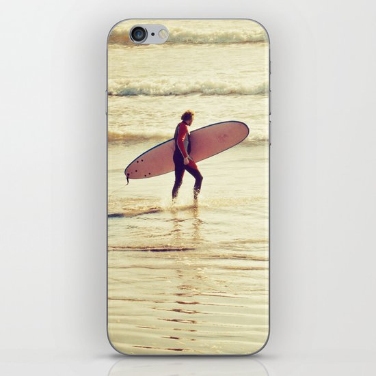 Golden Surf iPhone & iPod Skin