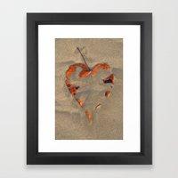 Love on the Beach Palolem Framed Art Print