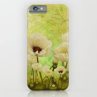 iPhone & iPod Case featuring White Poppies by TaLins