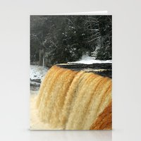 Wintry Waterfall Stationery Cards