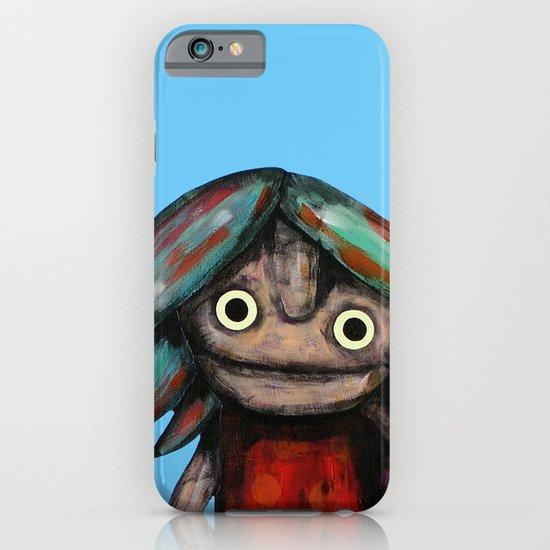 Girl vith teddy bear iPhone & iPod Case