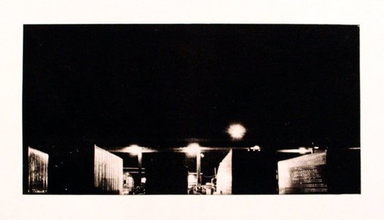 """Semi Truck Stop, PA"" Art Print"