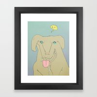 Dogdy dog Framed Art Print