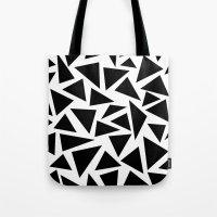 Black and White Triangle Tote Bag
