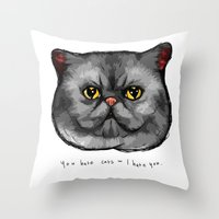 YOU HATE CATS = I HATE Y… Throw Pillow