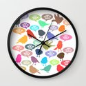 Birdsong Gosh Quotes by Rachel Burbee & Garima Dhawan Wall Clock