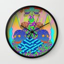 Donut Descent on Skull Haven Wall Clock