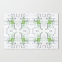 Circuit Board Green Repe… Canvas Print