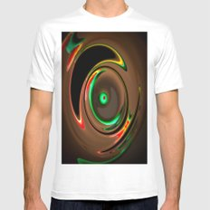 Wirbel SMALL White Mens Fitted Tee