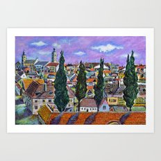 Landscape from Sibiu, Transylvania Art Print
