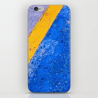 Abstract Blue and Yellow iPhone & iPod Skin