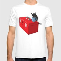 Chat Noir Beverage Tippe… Mens Fitted Tee White SMALL