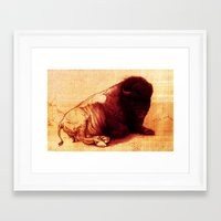 The Resting Of The Force Framed Art Print