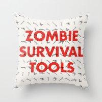 Zombie Survival Tools - … Throw Pillow