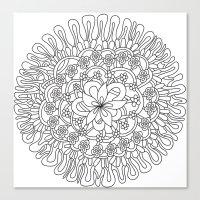 Simple Flower Canvas Print