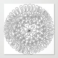 Simple Flower Canvas Print