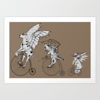Steam Punk Pets Art Print