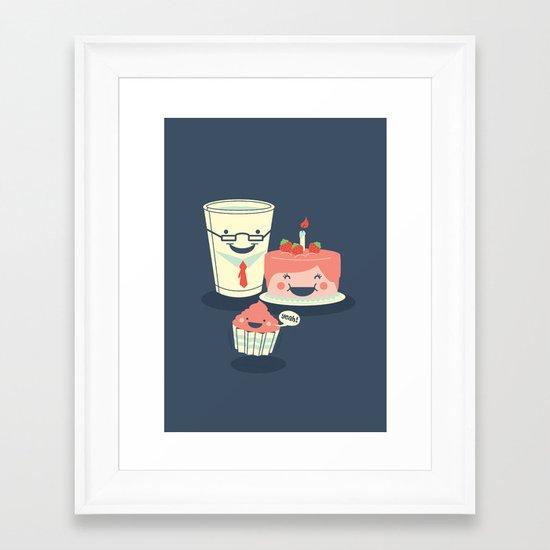Oh! my sweet little cupcake. Framed Art Print