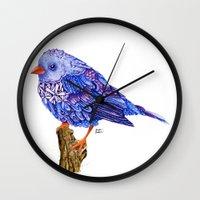 Flowerly Serene Sophia. Purple Edition Wall Clock